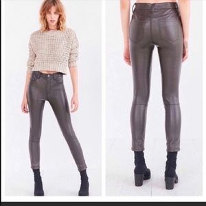 BDG urban outfitters coated skinny pants